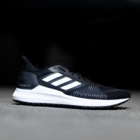 Sepatu Sneaker ADIDAS Solar Blaze Black List White Sole White Original