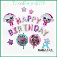 Balonasia Dekorasi Ulang Tahun LOL Surprise! Ungu Set