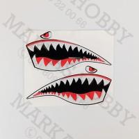 Stiker Bape Shark Twin