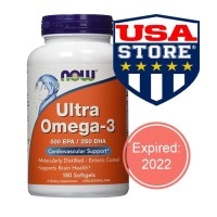NOW OMEGA 3 ULTRA 180 & 200 CT CARDIOVASCULAR JANTUNG FOODS FISH OIL
