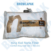 Bantal Kingkoil Nano Fiber King size 60x90 / kingkoil pillow king size