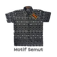 Kemeja Hem Batik Anak Motif Semut Monokrom Hitam Manis Baju Cowok