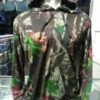 Baju Camo Kaos Kamuflase Tutup Kepala Lengan Panjang Bahan PE