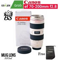 Lensa Mug Cup Gelas Termos Lensa Kamera Canon EF 70-200mm F2.8