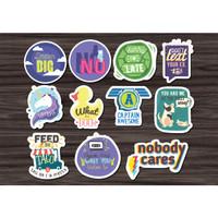 Stiker/Sticker Mix 01 untuk Laptop, Mobil, Koper, dll