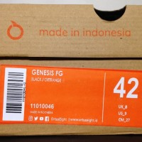 Sepatu Bola OrtusEight Genesis FG Black Ortrange 11010046 Original T