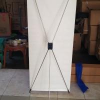 kaki Rangka X Banner Alumunium 60x160 udjust standing spanduk