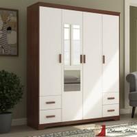 Belanova Interior - Lemari Pakaian 4 Pintu Durazo Series
