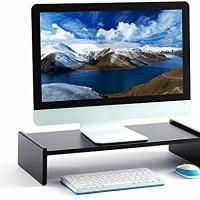 Alas/meja monitor warna hitam/ meja laptop / aksesoris komputer