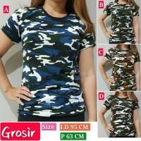 Baju Kaos Wanita/Kaos Army/Kaos Oblong/Loreng/Kaos Lengan Pendek
