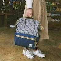 backpack tas ransel sekolah annelo salur/tas gendong wanita /tas