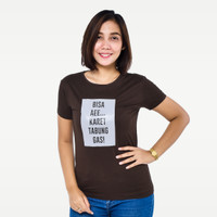 SEYES S5915 Tumblr Tee T-Shirt Kaos Premium Baju Atasan Wanita Cokelat - Cokelat