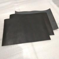 Bahan kulit sapi lembaran leather Sheet Pull Up Hitam
