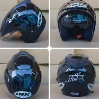 Helm ink JP8 KW hitam metalik