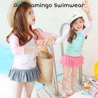 Girl Flaminggo Swimwear/ Baju Renang Bayi