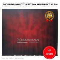 Kain Background Backdrop latar Studio Foto Abstrak merah hitam 3x2.5m