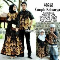 Baju gamis jumbo couple batik sarimbit keluarga dan anak