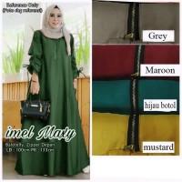 Maxi Imel jumbo XXL hijau botol [Gamis 0140] SGE Baju Gamis Wanita