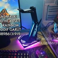 stand headset LED RGB Rainbow logo ROG MSI CORSAIR REXUS SADES