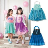 Princess apron dress Frozen Elsa Anna Snow White Ariel Mermaid