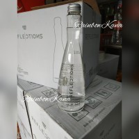 Aqua Reflections Mineral water 380ml Aqua botol beling kaca Air minum