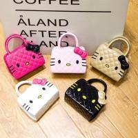 Tas Handbag Desain Hello Kitty Bahan Pu Untuk Anak Perempuan