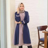 Baju Wanita Terbaru TAMARA COMBI LONG TUNIK Muslim Kekinian kece 2019