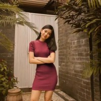 minidress polos baju wanita simpel casual dress pendek ketat bodycon