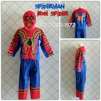 Baju Kaos Kostum Anak Karakter Superhero SPIDERMAN IRON SPIDER