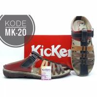 Sandal Kickers Wanita Slip On Kode MK-20 Merah Hitam