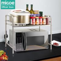 MICOE Rak Microwave stainless steel rak alat dapur rak penyimpanan