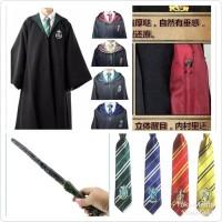 PAKET KOSTUM HALLOWEEN ANAK Harry Potter: Jubah + Dasi + Tongkat Sihir