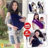 Gendongan Bayi Kaos/Geos Baby Leon Polos Warna NAVI Ukuran M dan L