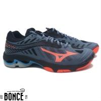 Sepatu Volly Mizuno Wave Lightning Z4 - Blue Mirage Fiery sports