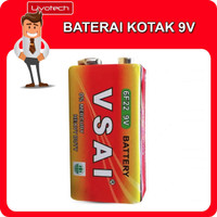 BATERAI KOTAK 9V LR61 Heavy Duty 9 Volt Batu Batre Battery Batrei