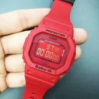 JAM TANGAN WANITA MERK BABY-G ORI BM TYPE BGD-5635C RED