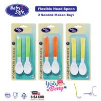 Baby Safe Flexy Head Spoon 2 Sendok Makan Bayi Fleksibel BS349
