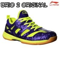 sepatu badminton lining anak & dewasa brio II purple lime original