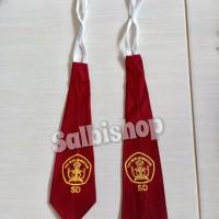 Dasi merah dasi seragam anak SD sablon