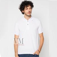 VM Polo Shirt Polos Kaos Krah Lakos M to Jumbo Big XXL Putih Pendek