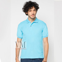 VM Polo Shirt Polos Kaos Krah Basic Simple Lakos Biru Muda / soft