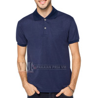 VM Polo Shirt Polos Kaos Krah Basic Simple Lakos Biru navy / Navy Blue