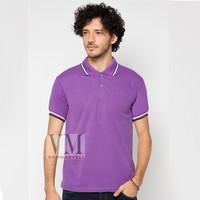 VM Kaos Polo Shirt Polos Ungu