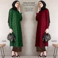 Baju Muslim Setelan Kebaya Brokat Setelan Farah banyak warna