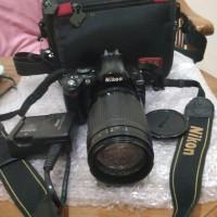 kamera slr dslr nikon d40x lensa nikon nikkor af 70 300mm