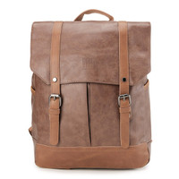 Urban State - Distressed Leather Nomad Backpack - Camel
