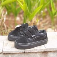 Sepatu Sekolah Anak Vans Old Skool Import. Sepatu Sekolah Full Hitam