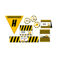 Construction Birthday Party - Dessert Table Decoration - Party Label - Construction