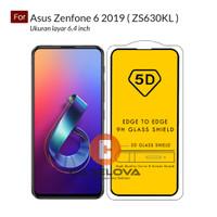 Full Cover Tempered Glass Warna 5D / 6D / 9D Asus Zenfone 6 2019 - Hitam