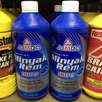 Minyak Rem jumbo DOT3 1 LITER (Brake Fluid/Cairan Rem Mobil & Motor)